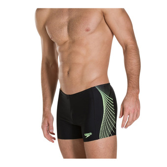 Speedo PLACEMENT - Bañador hombre black/yellow
