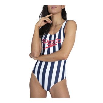 Speedo ICE CREAM - Bañador mujer navy/white
