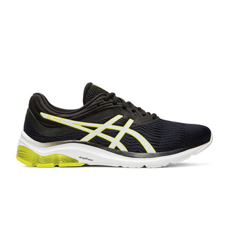 Asics PULSE 11 - Chaussures running Homme black/neon lime
