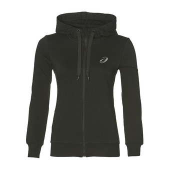 ASICS CHEST LOGO FZ HOODIE PERFORMANCE BLACK Femme