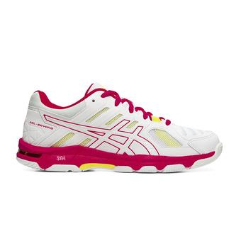 Asics GEL-BEYOND 5 - Zapatillas de vóleibol mujer white/laser pink