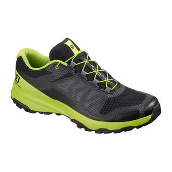 Salomon XA DISCOVERY - Trail Shoes - Men's - black/lime green/magnet