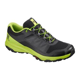 Salomon XA DISCOVERY - Trail Shoes - Men's - black/lime green/magnet