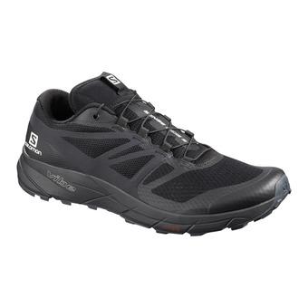 Salomon SENSE RIDE 2 - Trail Shoes - Men's - black/phantom/ebony