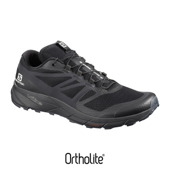 Salomon SENSE RIDE 2 - Chaussures trail Homme black/phantom/ebony