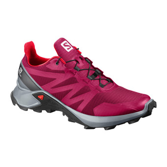 Salomon SUPERCROSS - Trail Shoes - Women's - cerise./pearl blue/fiery cor