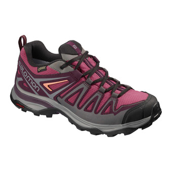 Salomon X ULTRA 3 PRIME GTX - Hiking Shoes - Women's - malaga/potent purple/desert flower