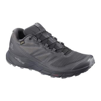 Salomon SENSE RIDE GTX NOCTURNE - Trail Shoes - Men's - ebony/quiet shade/black