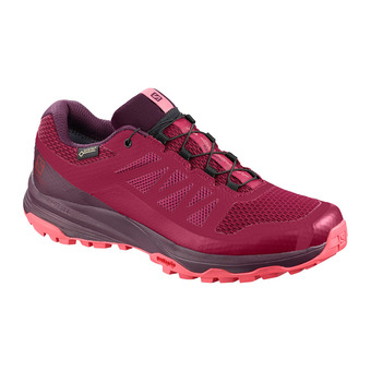 Salomon XA DISCOVERY GTX - Trail Shoes - Women's - beet red/potent purple/calypso coral
