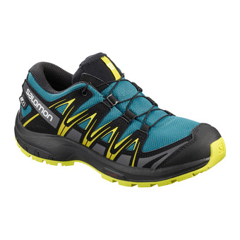 Salomon XA PRO 3D CSWP - Hiking Shoes - Junior lyons blue/black/sulphur spring
