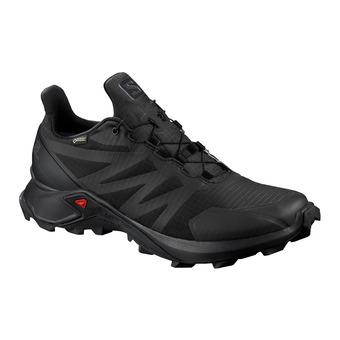 Salomon SUPERCROSS GTX - Chaussures trail Homme black/black/black