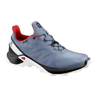 Salomon SUPERCROSS GTX - Chaussures trail Homme flint/black/high risk red