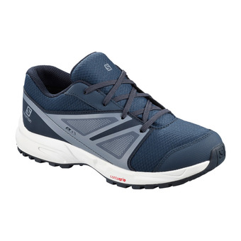 Salomon SENSE CSWP - Chaussures randonnée Junior sargasso sea/navy blazer/flint
