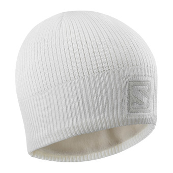 Salomon LOGO - Bonnet wht/lunar rock