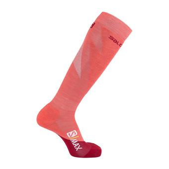 Salomon S/MAX - Socks - Women's - rio red/calypso coral