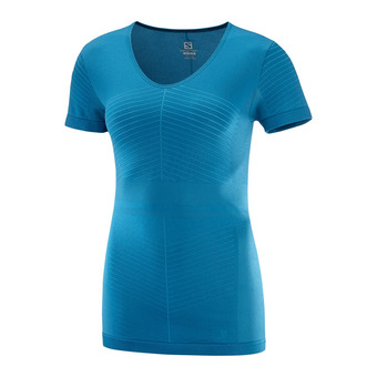 ELEVATE MOVE'ON SS TEE W -LYON Femme Lyons Blue