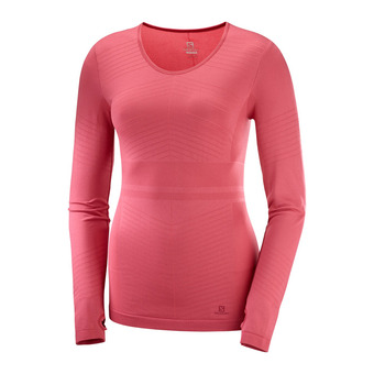 Salomon ELEVATE MOVE'ON - Camiseta térmica mujer garnet rose