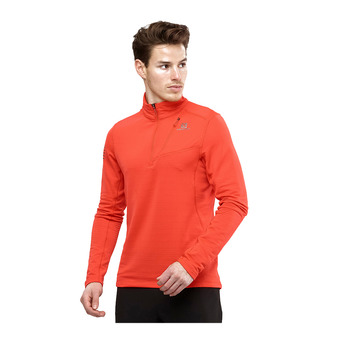Salomon GRID FZ - Sweat Homme fiery red