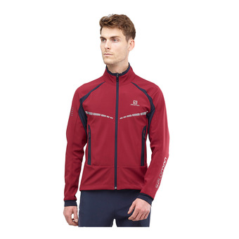 Salomon RS WARM SOFTSHELL - Chaqueta hombre biking re/night sky