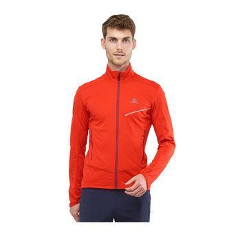 Salomon RS SOFTSHELL - Jacket - Men's - fiery red/biking re
