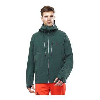 Salomon ICESTAR - Chaqueta de esquí hombre green gab
