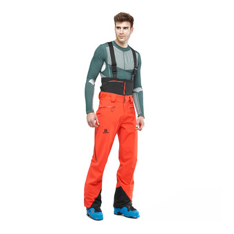 Salomon ICESTAR - Ski Pants - Men's - cherry to