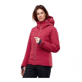 Salomon ICEPUFF - Ski Down Jacket - Women's - rio red