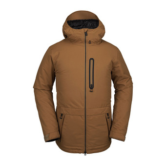 Volcom DEADLYSTONES INS - Snow Jacket - Men's - caramel