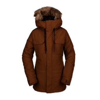 Volcom SHADOW INS - Snow Jacket - Women's - copper