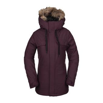 Volcom SHADOW INS - Snow Jacket - Women's - merlot