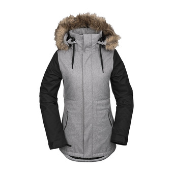 Volcom FAWN INS - Snowboard Jacket - Women's - heather grey