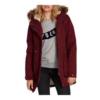 Volcom LESS IS MORE 5K - Parka Donna zinfandel
