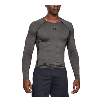 UA HG ARMOUR LS-GRY Homme Carbon Heather1257471-090