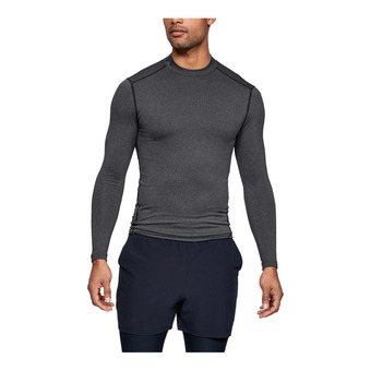 UA CG ARMOUR MOCK-GRY Homme Carbon Heather1265648-090