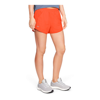 Under Armour FLY BY - Short mujer peach plasma