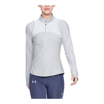 Under Armour QUALIFIER - Maglia Donna halo gray