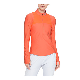 Under Armour QUALIFIER - Maglia Donna coral dust