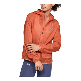 Under Armour QUALIFIER STORM - Chaqueta mujer coral dust