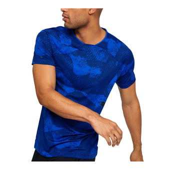 Under Armour HG RUSH FITTED - Camiseta térmica hombre royal