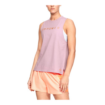 Under Armour GRAPHIC EMPOWER MUSCLE - Camiseta de tirantes mujer pink fog