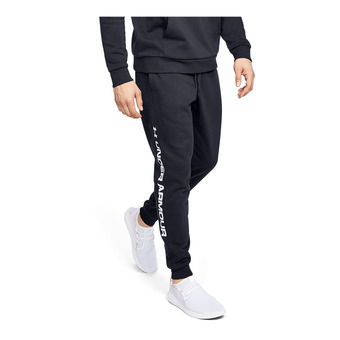 Under Armour RIVAL FLEECE WORDMARK LOGO - Jogging Homme black