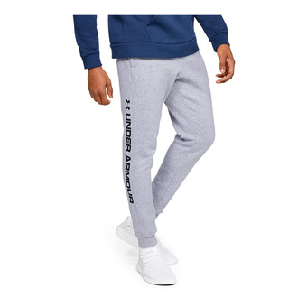 Under Armour RIVAL FLEECE WORDMARK LOGO - Jogging Homme steel light heather
