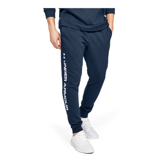 Under Armour RIVAL FLEECE WORDMARK LOGO - Pantalón de chándal hombre academy