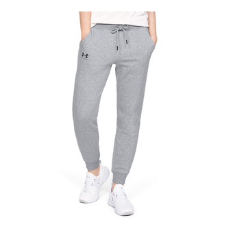 Under Armour RIVAL FLEECE SPORTSTYLE GRAPHIC - Pantalón de chándal mujer steel medium heather
