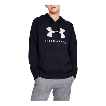 Under Armour RIVAL FLEECE SPORTSTYLE GRAPHIC - Sweat Femme black