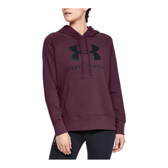Under Armour RIVAL FLEECE SPORTSTYLE GRAPHIC - Felpa Donna level purple