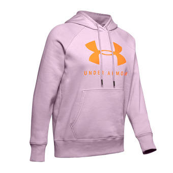 Under Armour RIVAL FLEECE SPORTSTYLE GRAPHIC - Sweat Femme pink fog