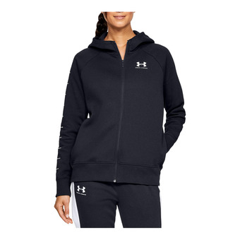 Under Armour RIVAL FLEECE SPORTSTYLE LC GRAPHI - Sudadera mujer black