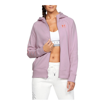 Under Armour RIVAL FLEECE SPORTSTYLE LC GRAPHI - Sudadera mujer pink fog