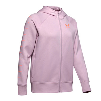 Under Armour RIVAL FLEECE SPORTSTYLE LC GRAPHI - Sweat Femme pink fog